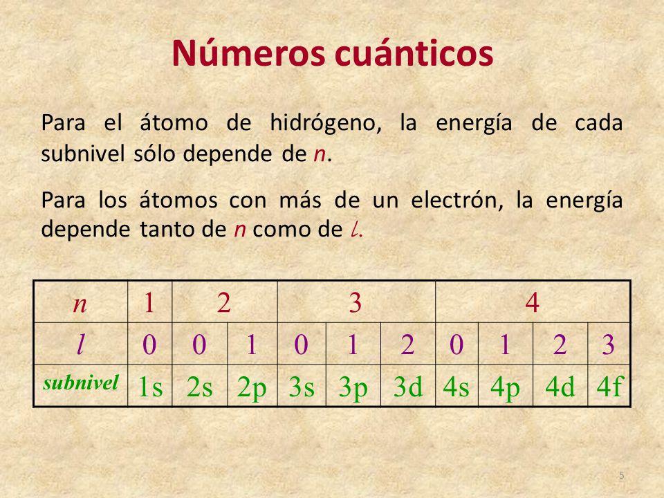 Tabla peridica de los elementos qumicos ppt video online descargar nmeros cunticos n 1 2 3 4 l 1s 2s 2p 3s 3p 3d 4s 4p urtaz Gallery