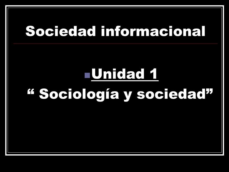 Sociedad informacional