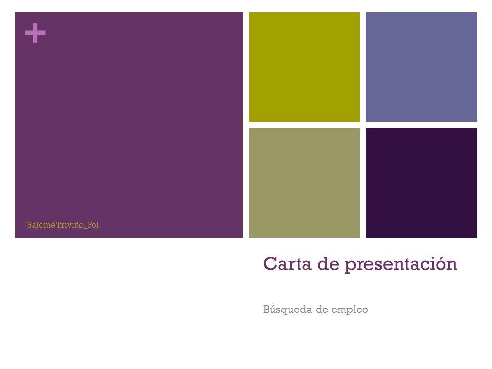 Salomé Triviño_Fol Carta de presentación Búsqueda de empleo