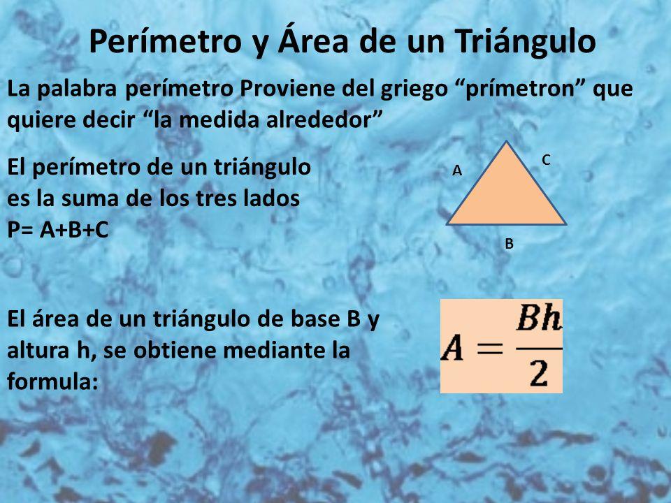 Perímetro y Área de un Triángulo