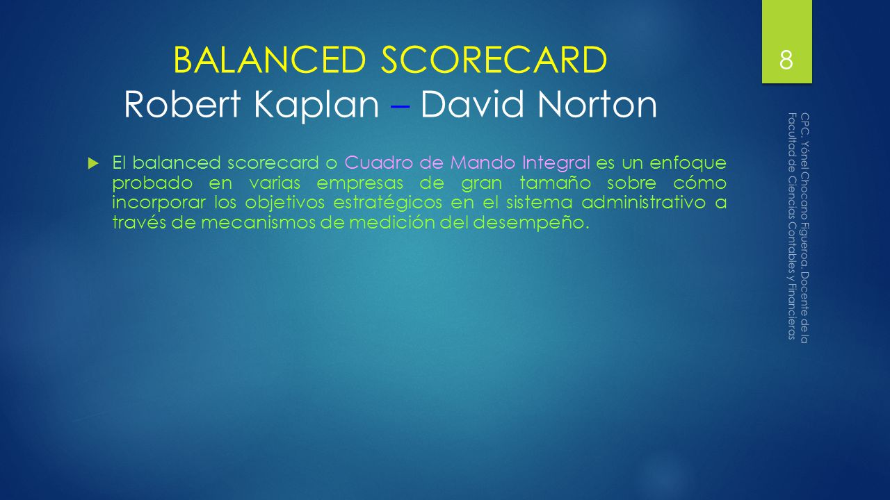 balanced scorecard kaplan and norton pdf