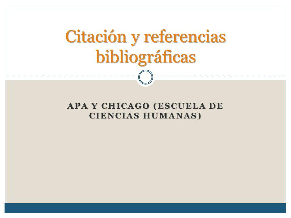 Sistema de citas bibliograficas chicago