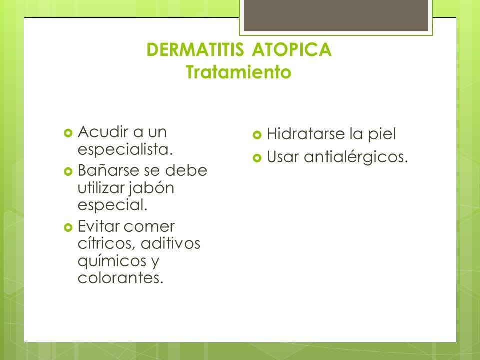 DERMATITIS ATOPICA Tratamiento
