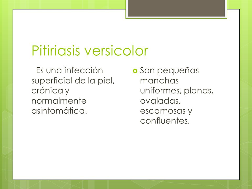 Pitiriasis versicolor