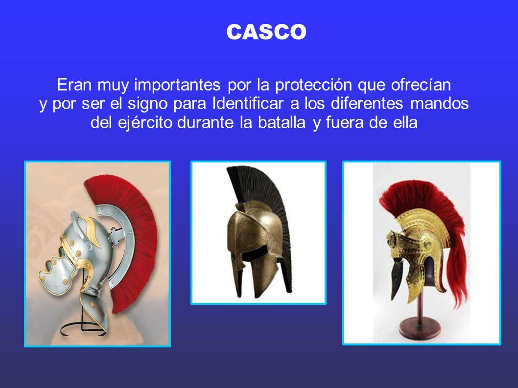CASCO Eran muy importantes por la protección que ofrecían
