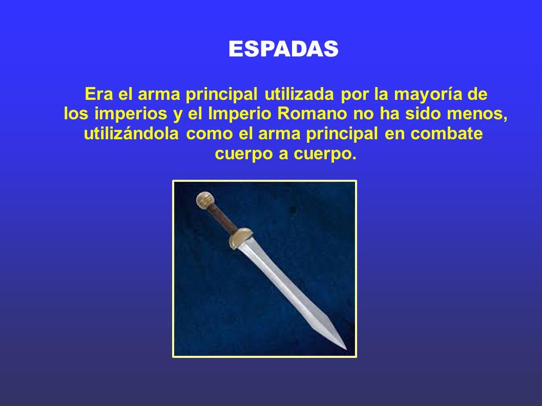 ESPADAS Era el arma principal utilizada por la mayoría de
