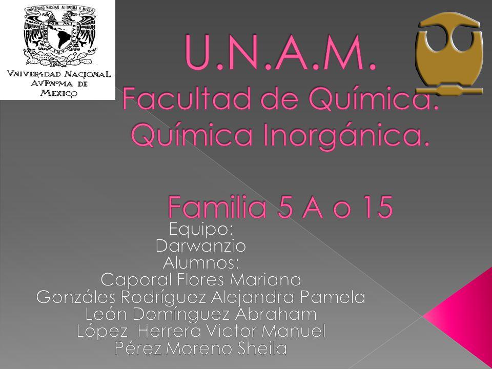 Unam facultad de qumica qumica inorgnica familia 5 a o ppt unam facultad de qumica qumica inorgnica familia 5 a o 15 urtaz Gallery