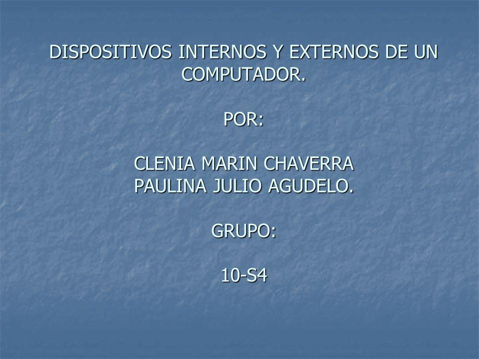 Dispositivos Internos Y Externos De Un Computador Ppt