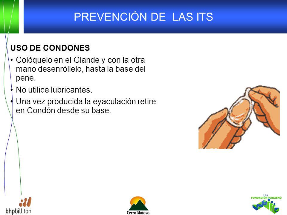 PREVENCIÓN DE LAS ITS USO DE CONDONES