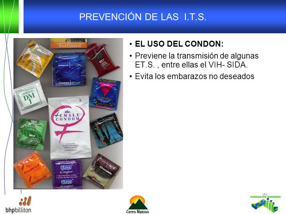 PREVENCIÓN DE LAS I.T.S. EL USO DEL CONDON:
