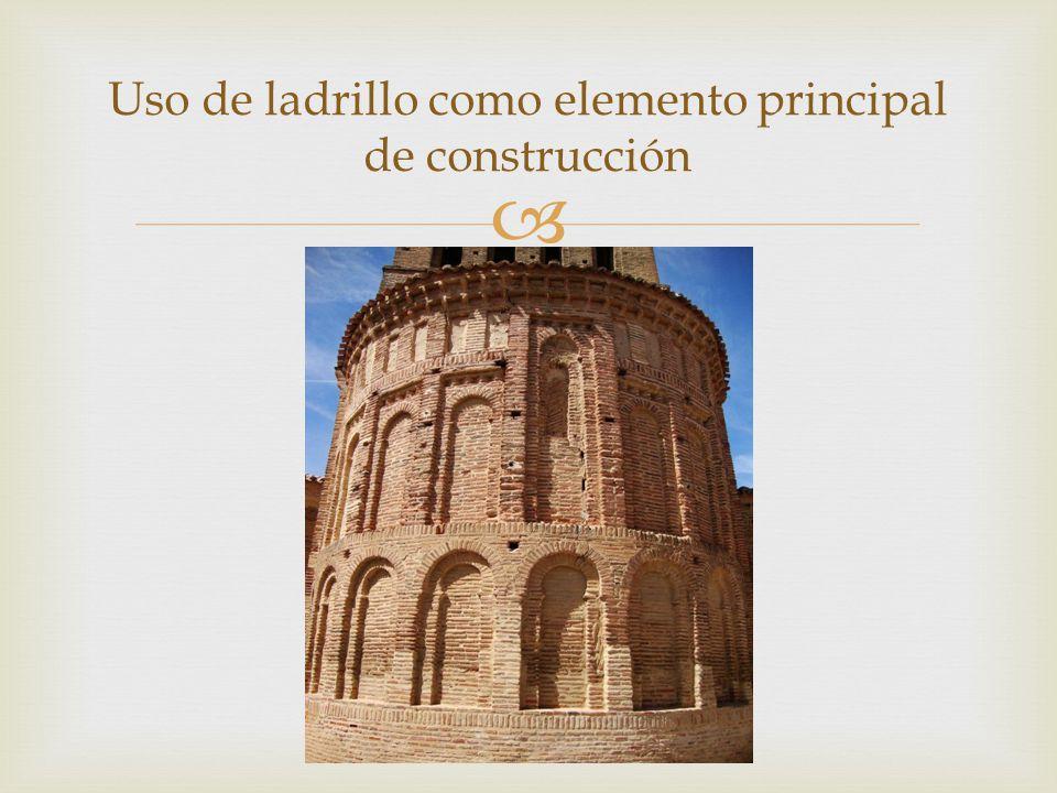 Uso de ladrillo como elemento principal de construcción