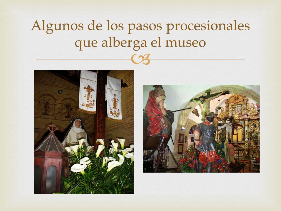 Algunos de los pasos procesionales que alberga el museo