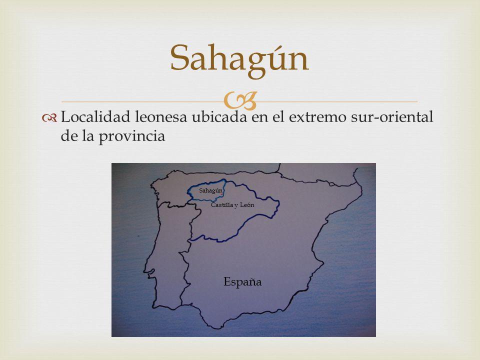 Sahagún Localidad leonesa ubicada en el extremo sur-oriental de la provincia. Sahagún. Castilla y León.