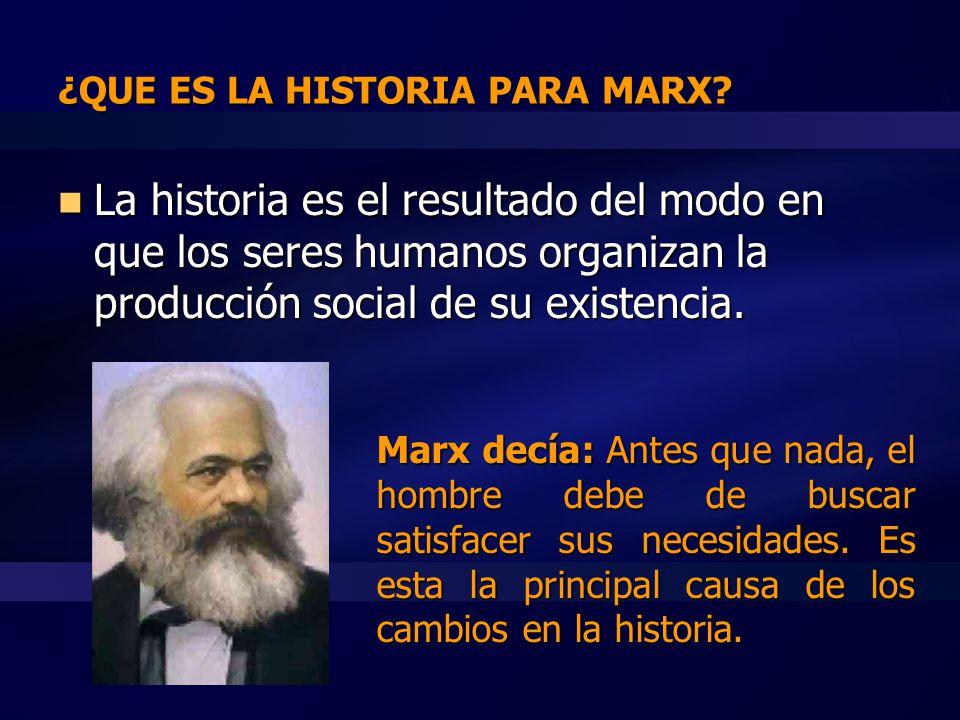 ¿QUE ES LA HISTORIA PARA MARX