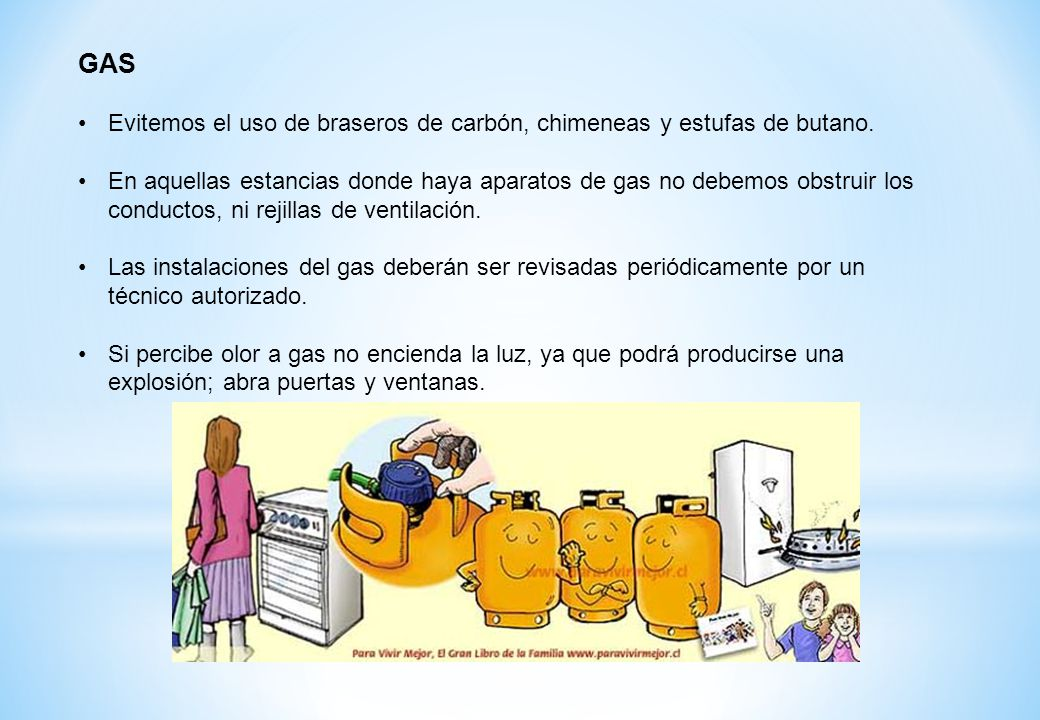 Taller de prevenci n de accidentes dom sticos m mar sala - Chimeneas de gas butano ...