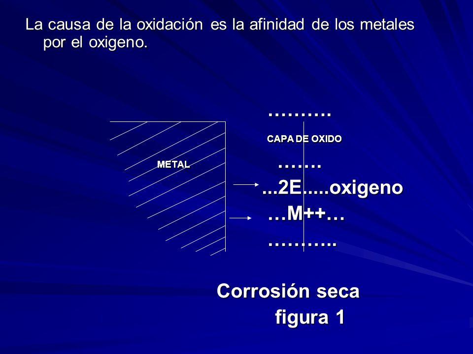 ………. CAPA DE OXIDO METAL ……. ...2E.....oxigeno …M++… ………..