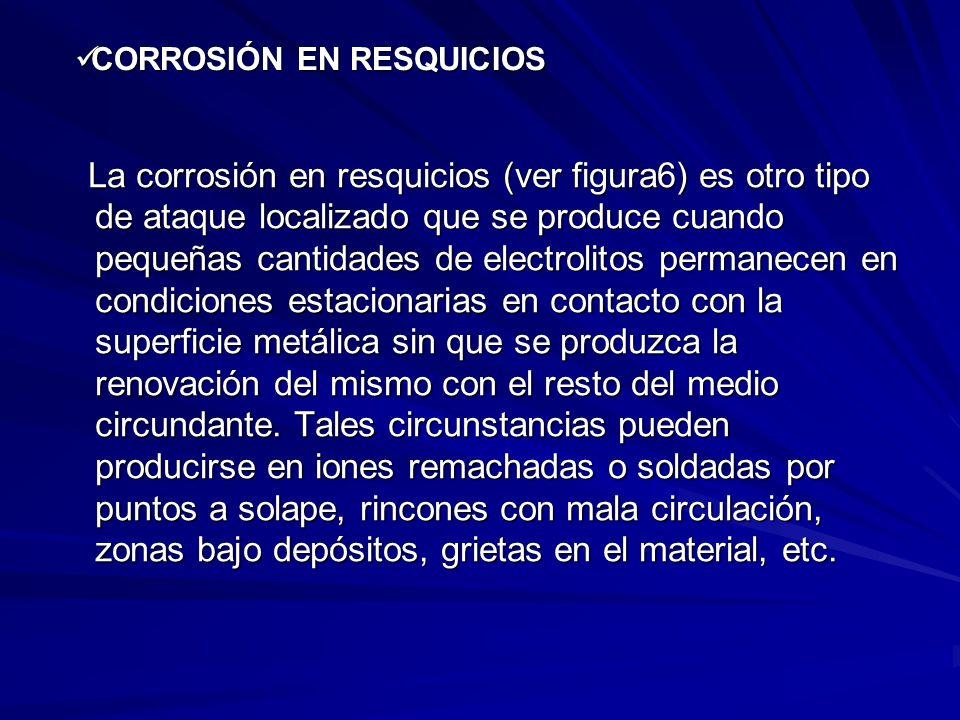 CORROSIÓN EN RESQUICIOS