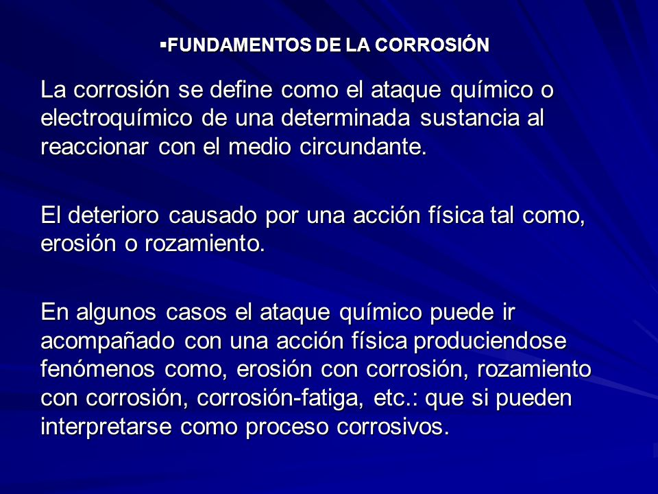 FUNDAMENTOS DE LA CORROSIÓN