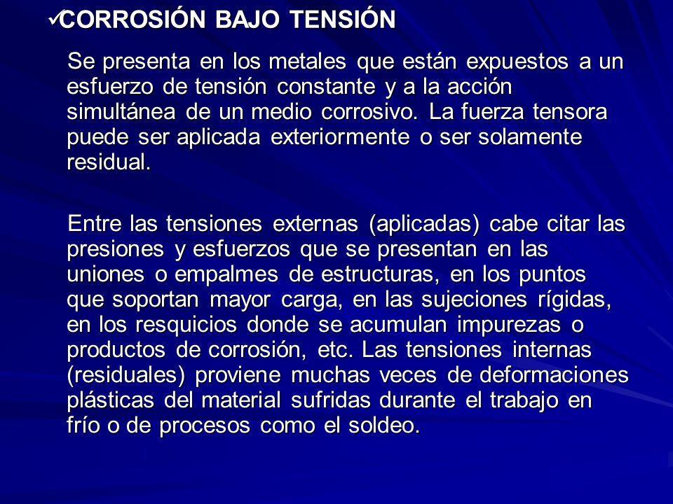 CORROSIÓN BAJO TENSIÓN