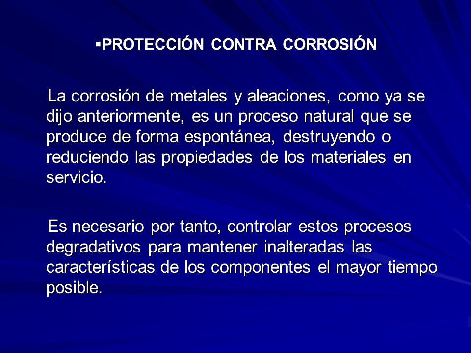 PROTECCIÓN CONTRA CORROSIÓN