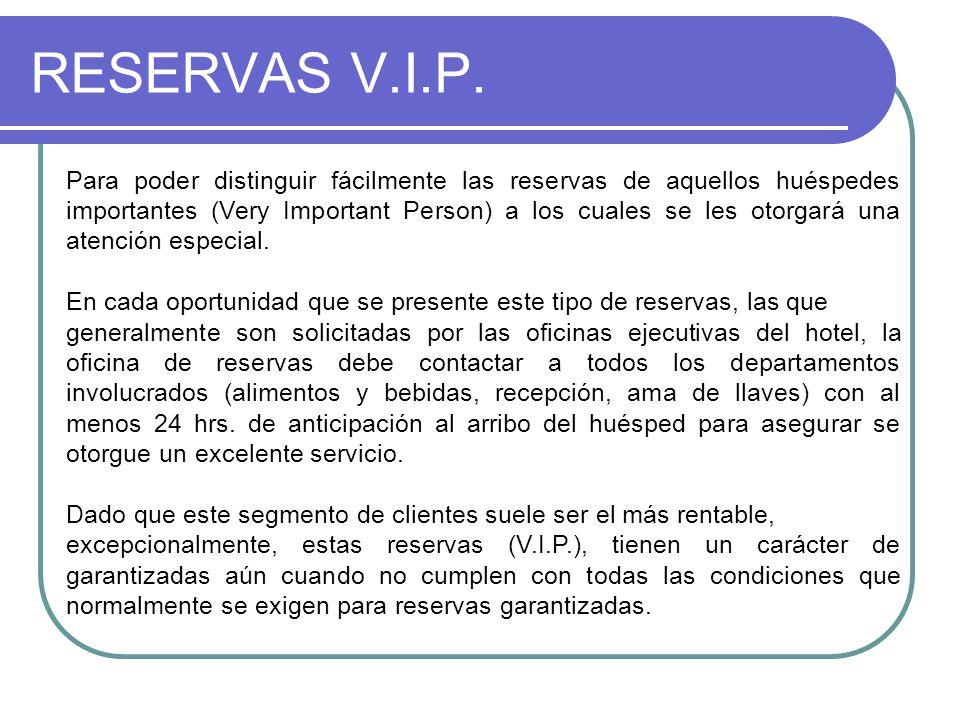 RESERVAS V.I.P.