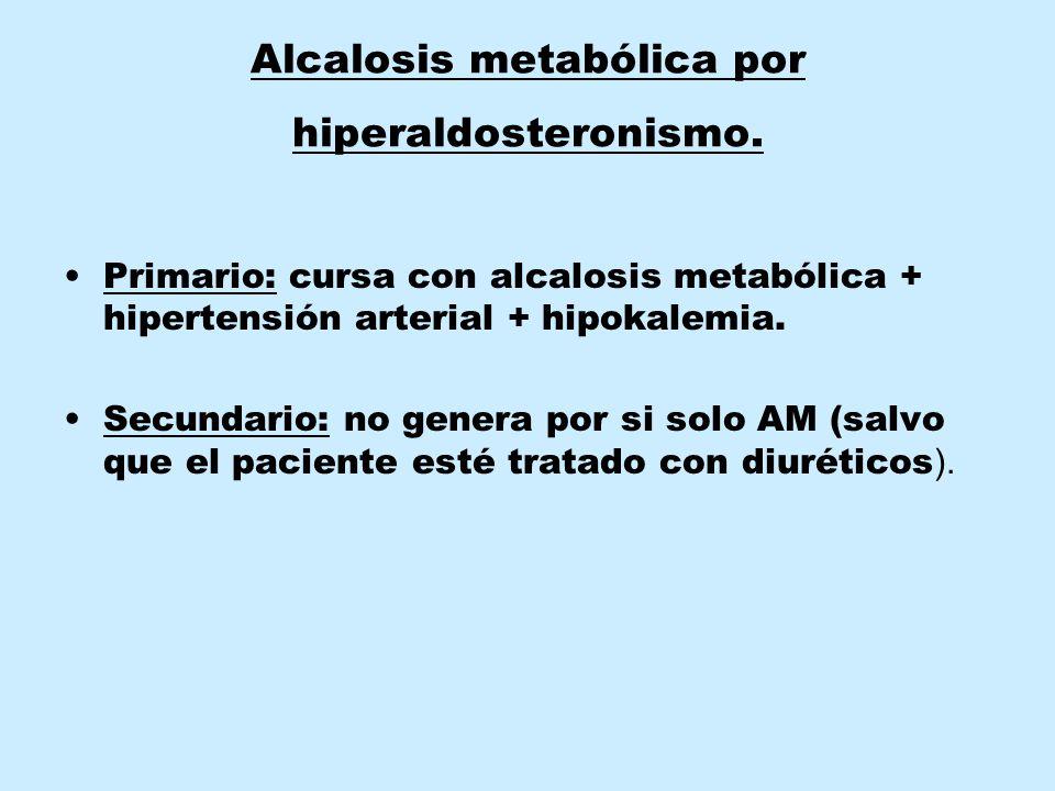 Alcalosis metabólica por hiperaldosteronismo.