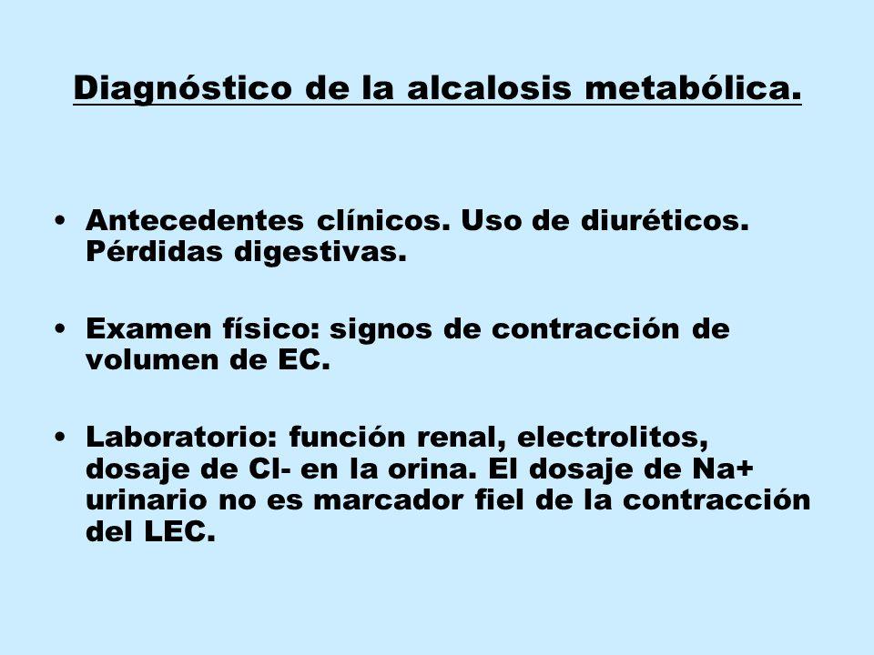 Diagnóstico de la alcalosis metabólica.