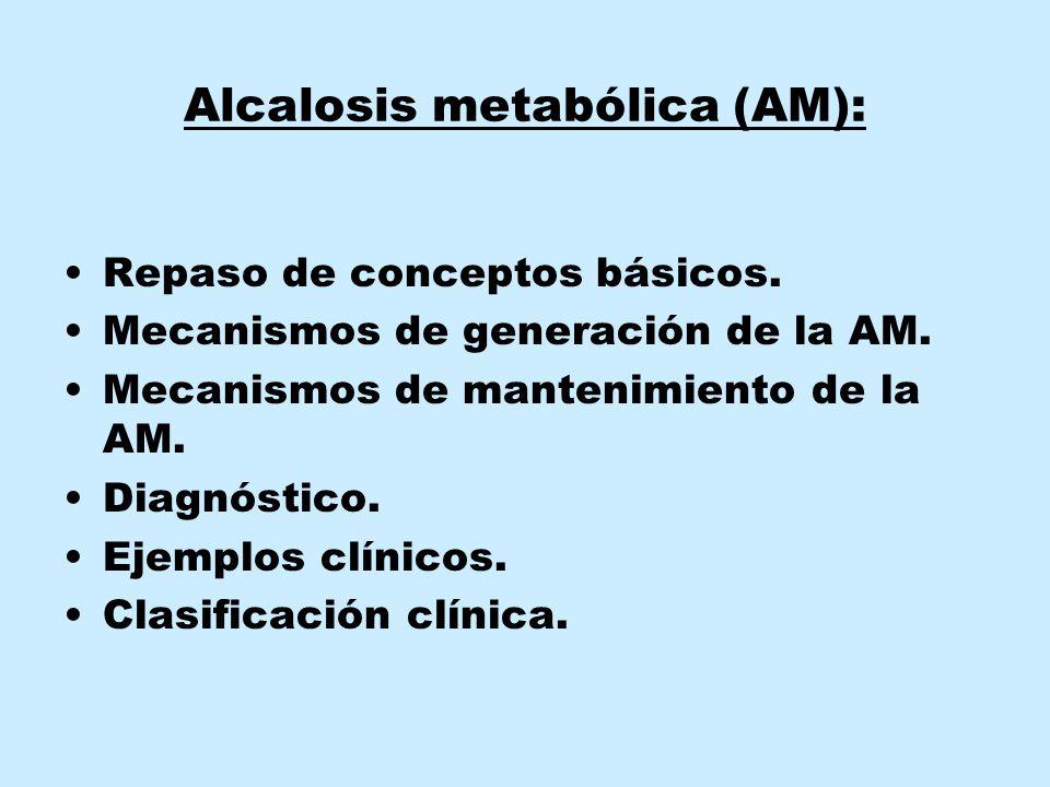 Alcalosis metabólica (AM):