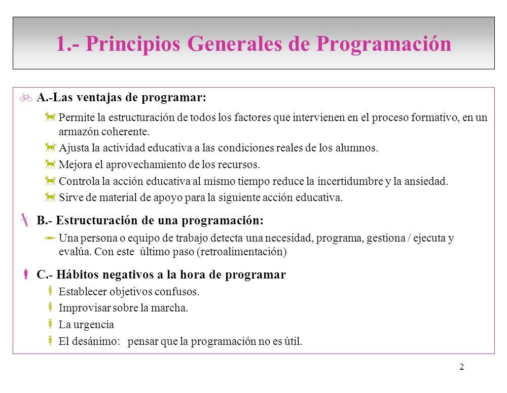 0 conceptos elementos programaci n ppt video for Accion educativa en el exterior