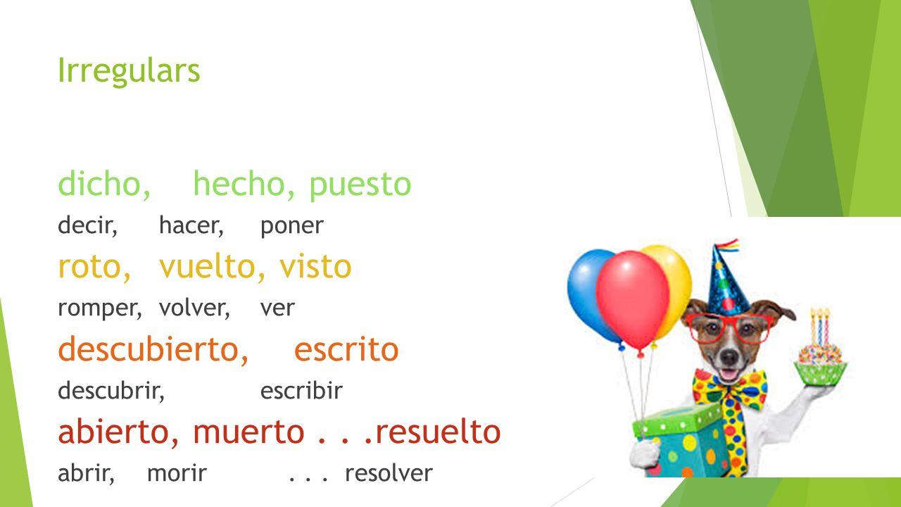 Spanish 3 DE Vistas CH 15 - Sra. LuzHoxsie
