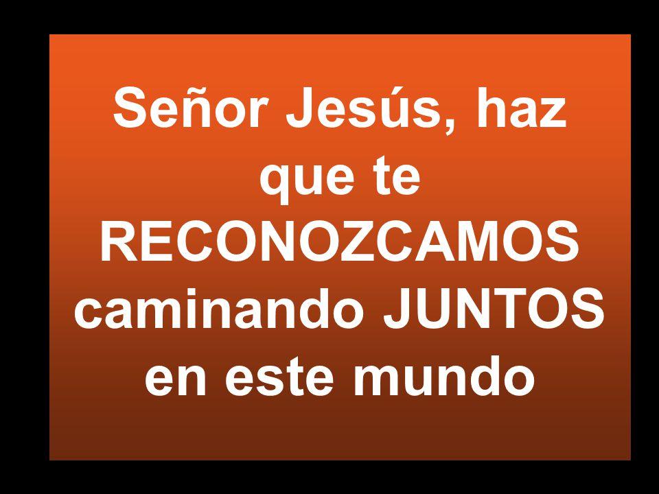 Señor Jesús, haz que te RECONOZCAMOS caminando JUNTOS en este mundo