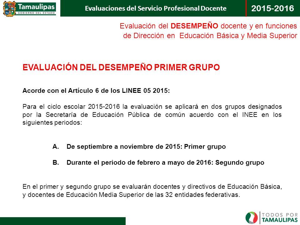 EVALUACIÓN DEL DESEMPEÑO PRIMER GRUPO