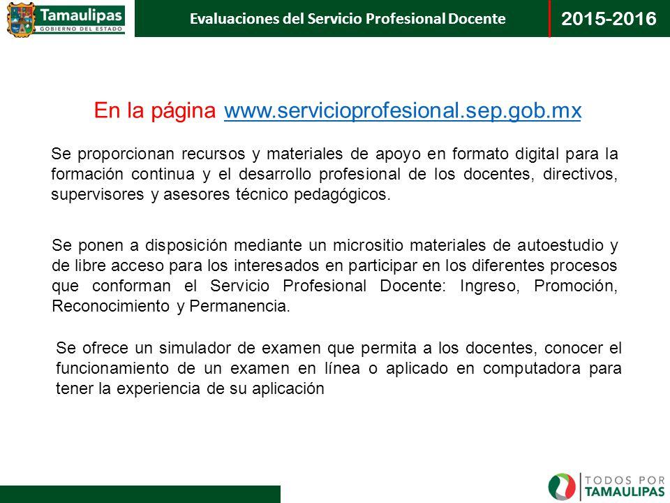 En la página www.servicioprofesional.sep.gob.mx
