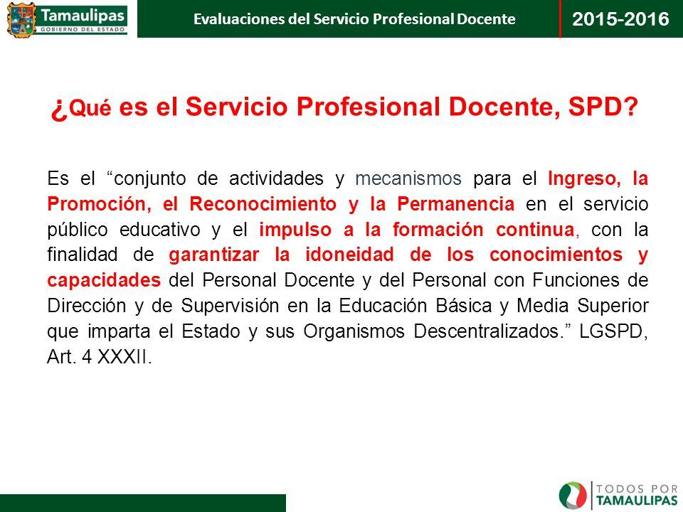 ¿Qué es el Servicio Profesional Docente, SPD