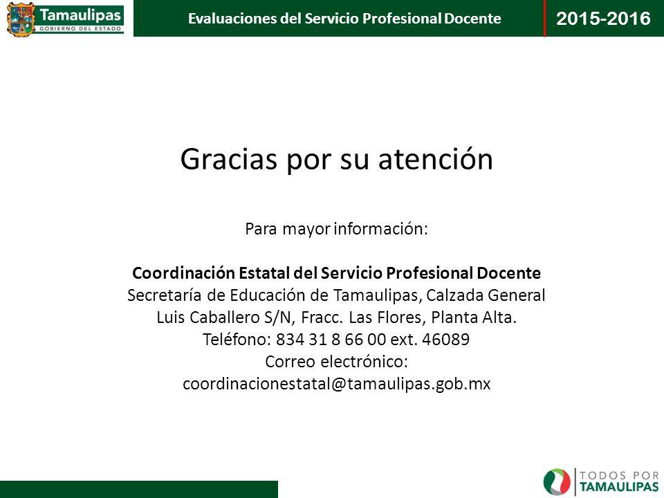 Coordinación Estatal del Servicio Profesional Docente
