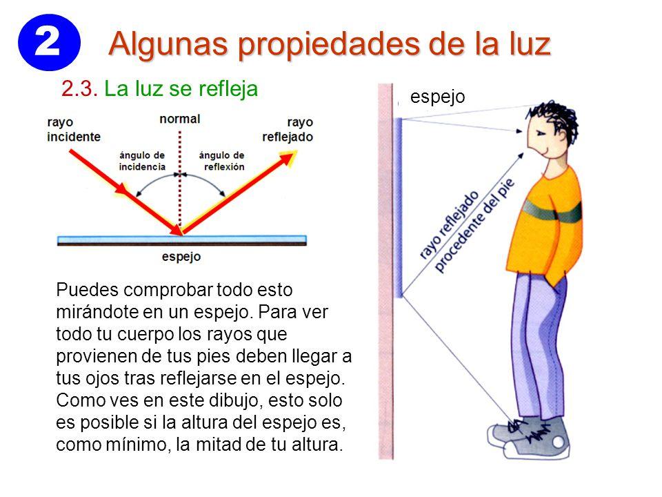 2 algunas propiedades de la luz 2 2 la luz se propaga en for Espejo que se rompe solo