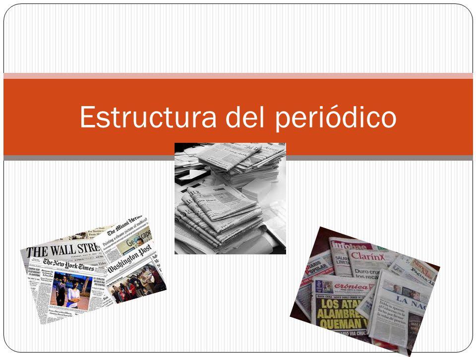 Estructura del peri dico ppt descargar for Estructura del periodico mural