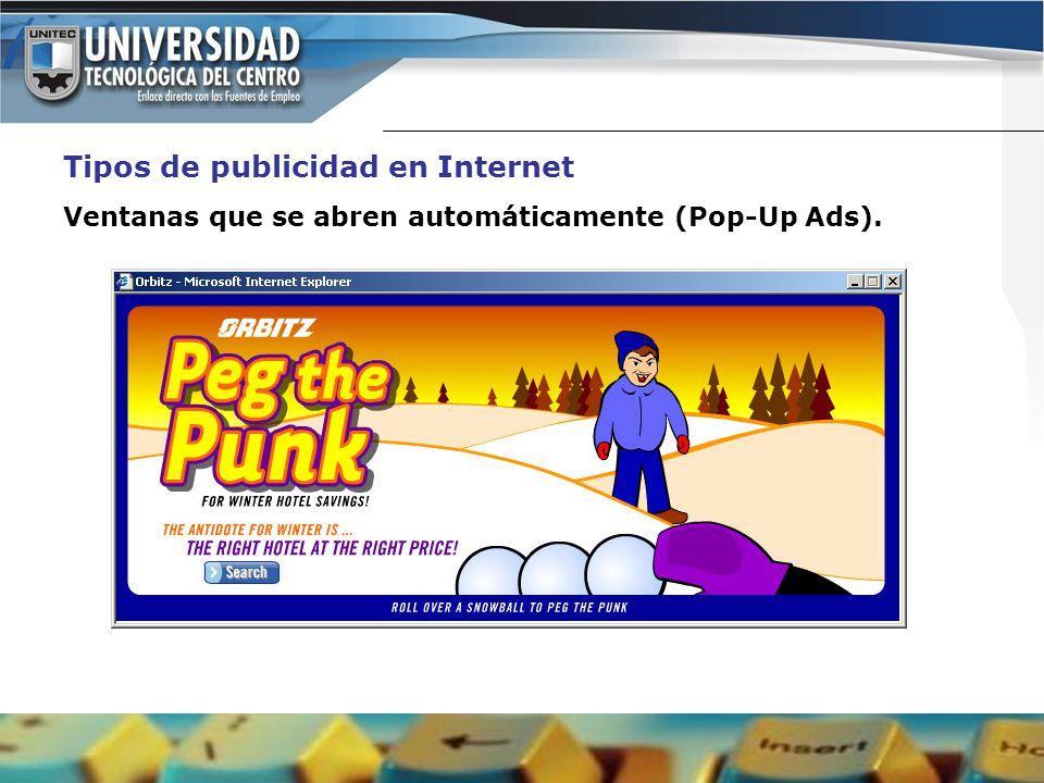 Publicidad de porno pop up