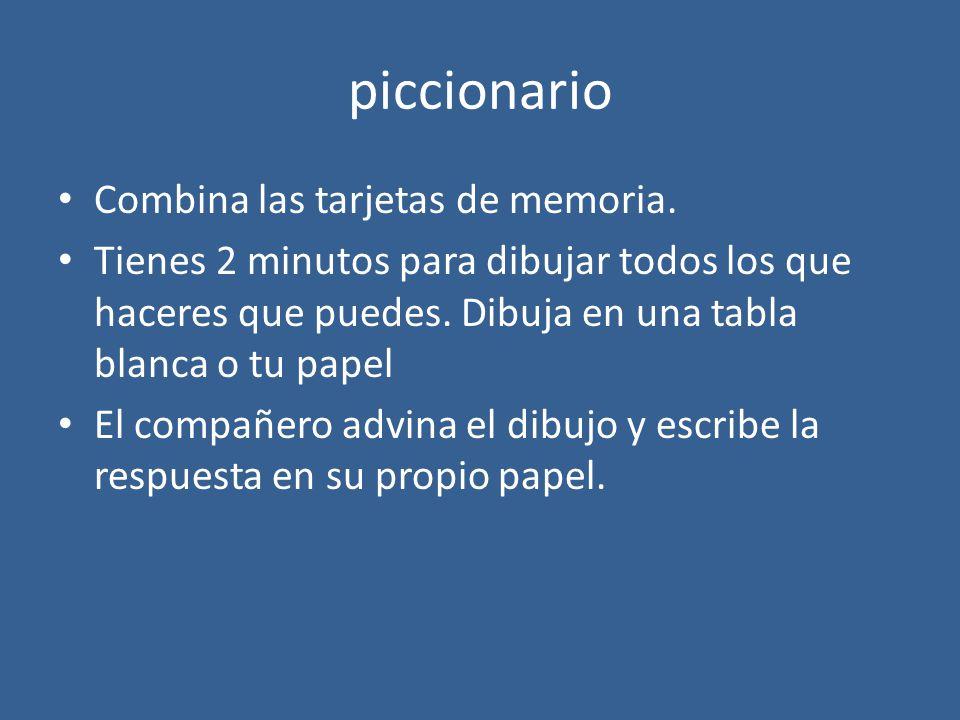 piccionario Combina las tarjetas de memoria.