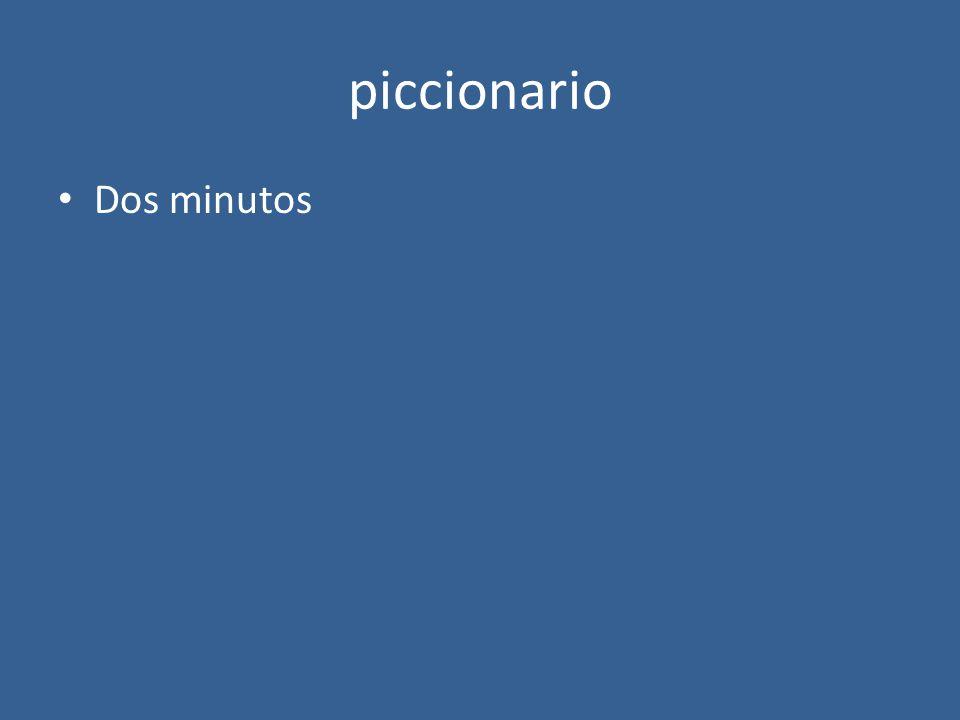 piccionario Dos minutos