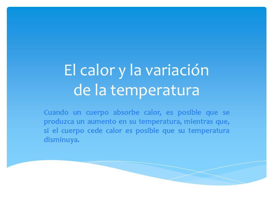 Circuito Que Produzca Calor : El calor y la variación de temperatura ppt descargar