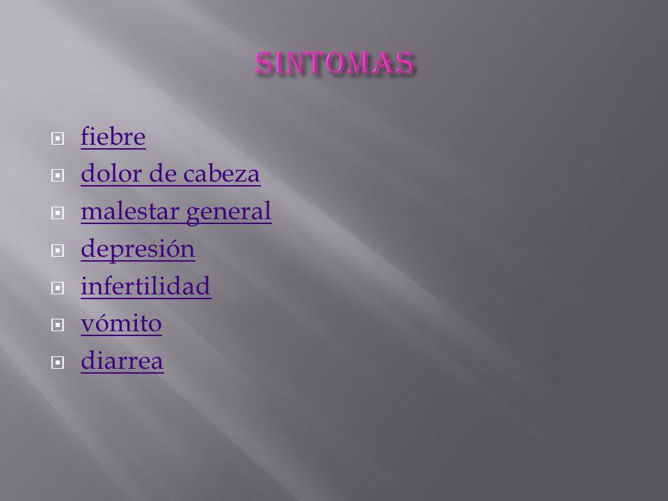 sintomas fiebre dolor de cabeza malestar general depresión