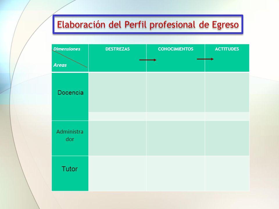 Elaboración del Perfil profesional de Egreso