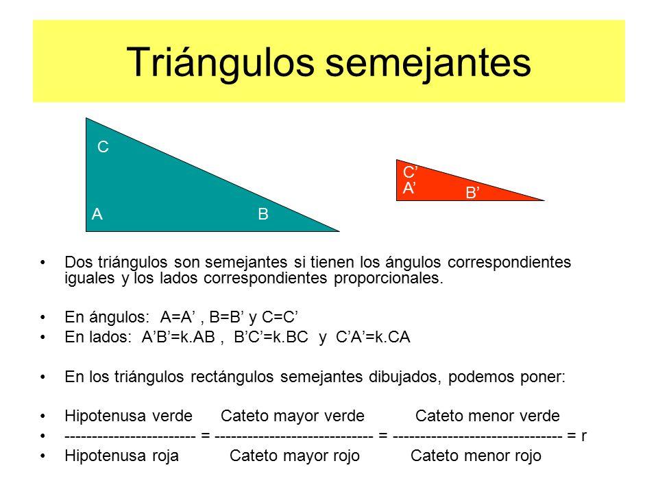 Triángulos semejantes