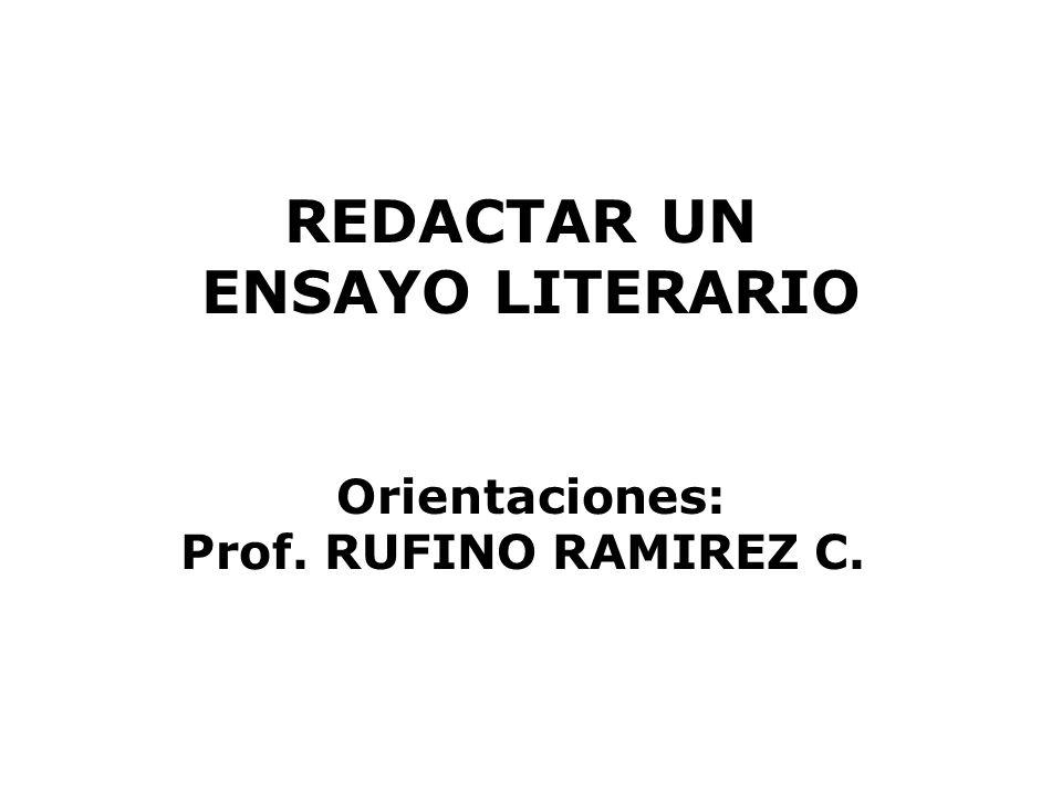 REDACTAR UN ENSAYO LITERARIO