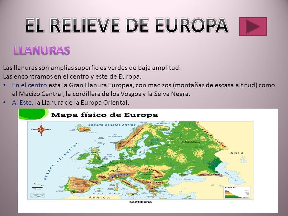 EL RELIEVE DE EUROPA LLANURAS