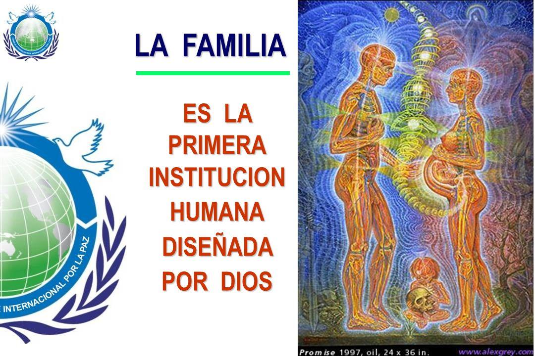 LA FAMILIA ES LA PRIMERA INSTITUCION HUMANA DISEÑADA POR DIOS