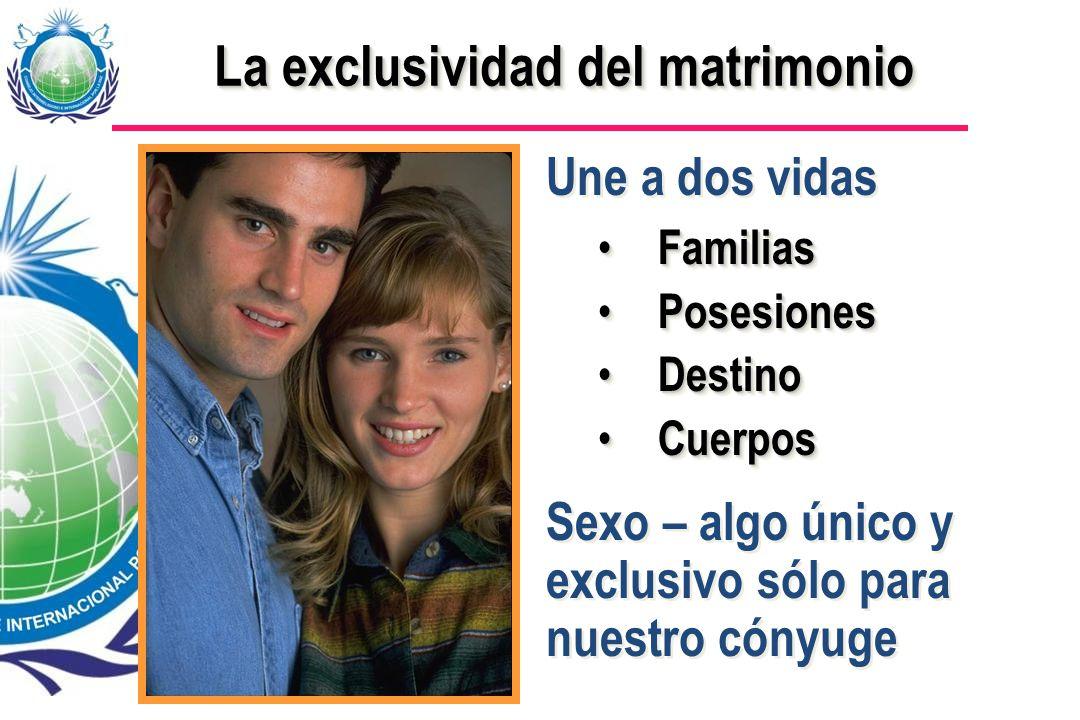 La exclusividad del matrimonio