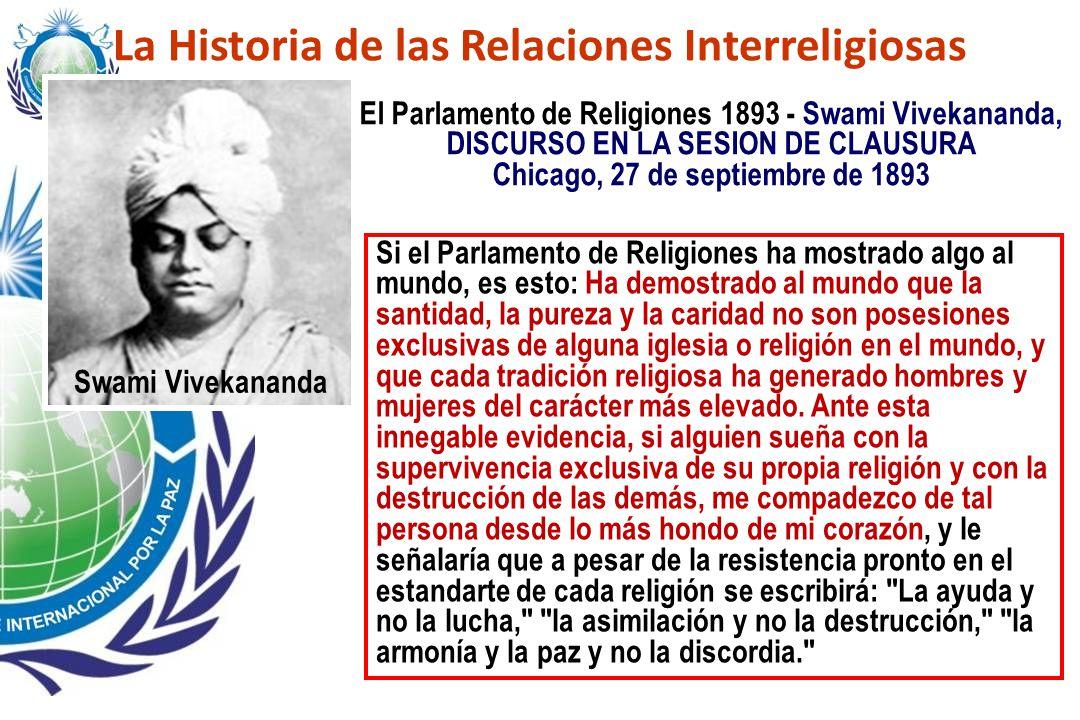 La Historia de las Relaciones Interreligiosas