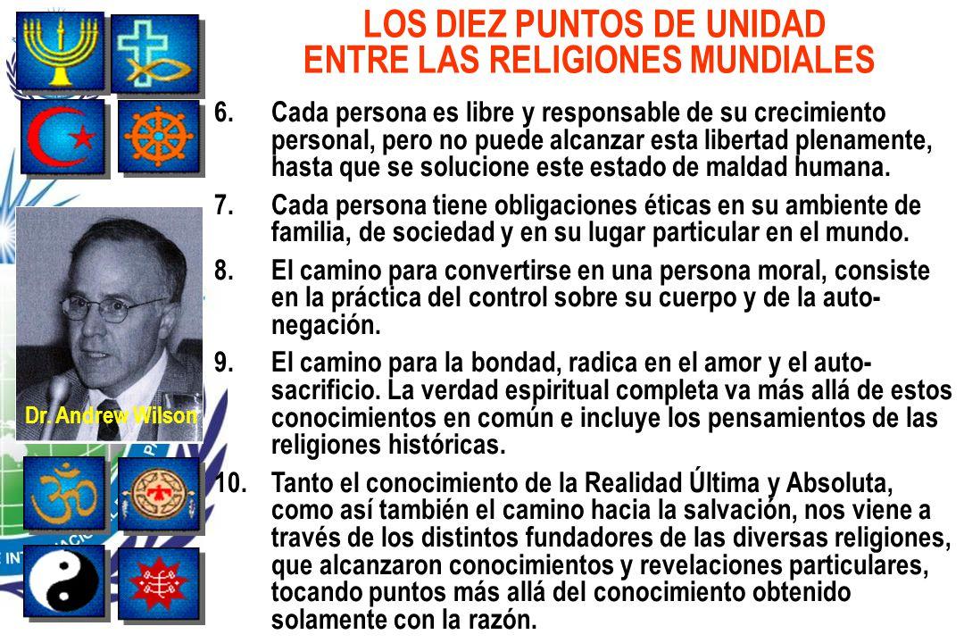 LOS DIEZ PUNTOS DE UNIDAD ENTRE LAS RELIGIONES MUNDIALES